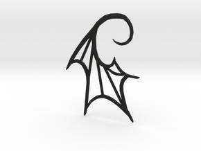 Bat Wing 10g earring in Black Premium Versatile Plastic