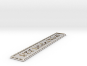 Nameplate USS Nimitz CVN-68 in Rhodium Plated Brass