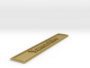 Nameplate Yamashiro in Natural Brass