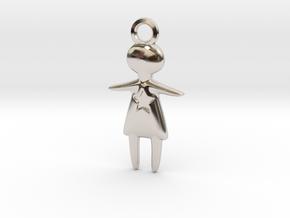 Stargirl Pendant in Rhodium Plated Brass