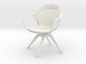 Mniature Norah Chair - Giorgetti in White Natural Versatile Plastic: 1:12