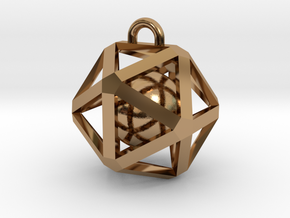 Caged Ball in Polished Brass (Interlocking Parts)