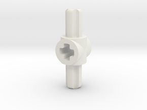 doube sided M to F axle connector in White Natural Versatile Plastic