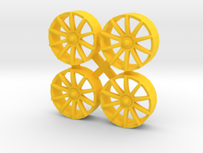 """Insert for wheel NSR 17"""" (Type LAMBORGHINI GT3) in Yellow Strong & Flexible Polished"""