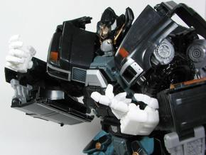 DOTM Leader Ironhide poseable hands in White Natural Versatile Plastic