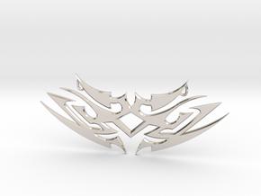 "Tribal ""Earth spirit"" pendant in Rhodium Plated Brass"