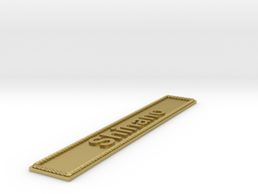 Nameplate Shinano in Natural Brass