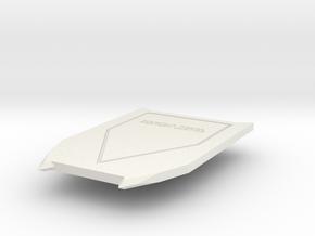 Hand-held shield in White Natural Versatile Plastic