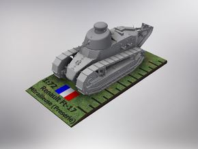 1/72nd scale Renault Ft-17 Char Mitrailleuse pre in Smooth Fine Detail Plastic