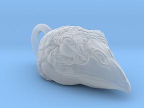 Bird Head Pendant in Smooth Fine Detail Plastic