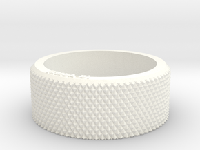 Sanwa RC Transmitter Wheel KMUA-D Design in White Processed Versatile Plastic