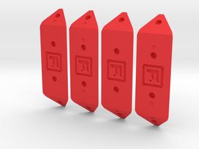 DIY Frebird Puzzle Single joints Kit GAMMA 30 in Red Processed Versatile Plastic