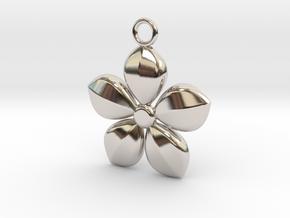 Plant necklace in Platinum