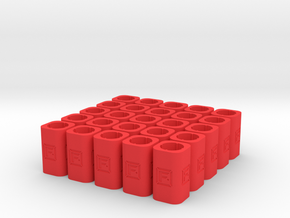 DIY Frebird Desktop Pencil Holder - 25 pack in Red Processed Versatile Plastic