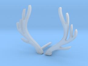 Antlers earrings in Smooth Fine Detail Plastic