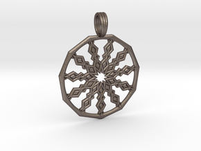 COSMIC SPEAR in Polished Bronzed Silver Steel