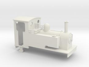1:32 scale Kerr Stuart 0-6-0T in White Natural Versatile Plastic