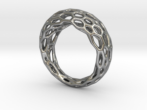 Ring Voronoi #1 in Natural Silver