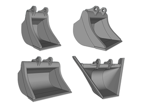 HO - Bucket Set nr.2 for 20-25t excavators in Frosted Ultra Detail