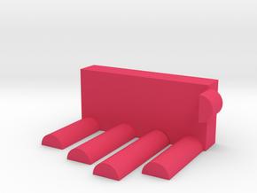 Card holder in Pink Processed Versatile Plastic