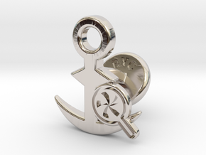 Cufflinks - Do your Rubesty! in Rhodium Plated Brass