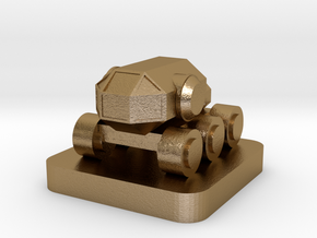 Mini Space Program, Crew Rover in Polished Gold Steel