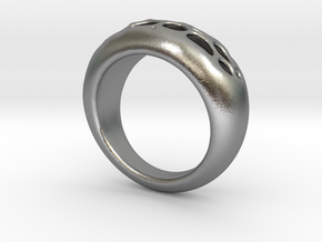 Ring Voronoi #1C in Natural Silver