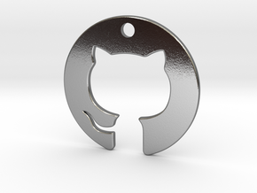 Cat Pendant in Polished Silver