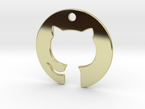 Cat Pendant in 18k Gold Plated Brass
