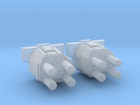 1/2700 Devastator Quad Turrets (smaller version) in Smooth Fine Detail Plastic
