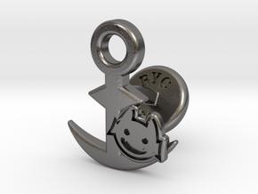 Cufflinks - Little Demon! in Polished Nickel Steel
