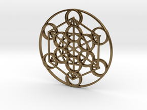 Metatron's Cube in Polished Bronze
