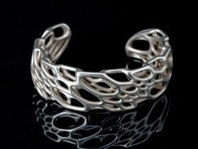 Bone Cuff in Stainless Steel: Medium