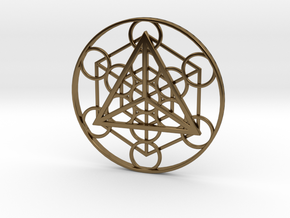 Metatron's Cube - Tetrahedron in Polished Bronze
