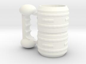 CAP in White Processed Versatile Plastic