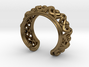 "Bracelet ""Wreath"" in Natural Bronze: Small"