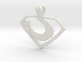 """Zod """"Man of Steel"""" Pendant in White Premium Versatile Plastic"""