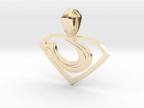 Zod Pendant - Small in 14K Yellow Gold
