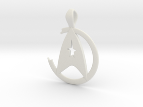 Khan Pendant - Star Trek in White Premium Versatile Plastic