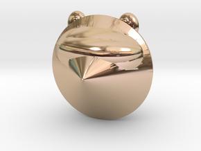 Laser Raccoon in 14k Rose Gold Plated Brass: Medium