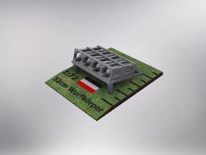 1/72nd scale (2pcs) 32cm Wurfkorper ground mounted in Smooth Fine Detail Plastic