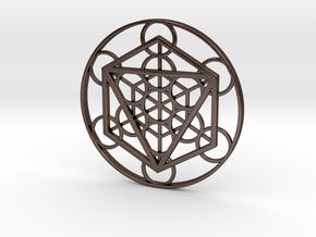 Metatron Cube - Octahedron in Polished Bronze Steel
