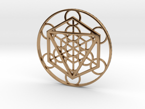 Metatron Cube - Octahedron in Polished Brass