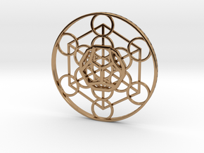 Metatron Cube - Dodecahedron in Polished Brass
