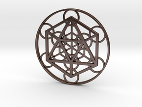 Metatron Cube - Icosahedron in Polished Bronze Steel