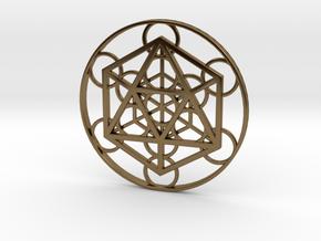 Metatron Cube - Icosahedron in Polished Bronze