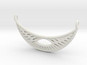 Pendant Voronoi #4B in White Natural Versatile Plastic