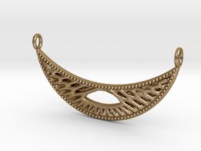 Pendant Voronoi #4B in Polished Gold Steel