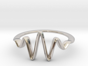 Wavelet Ring, Size 4.5 in Polished Silver