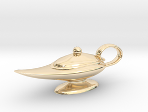 Oil Lamp Pendant in 14k Gold Plated Brass